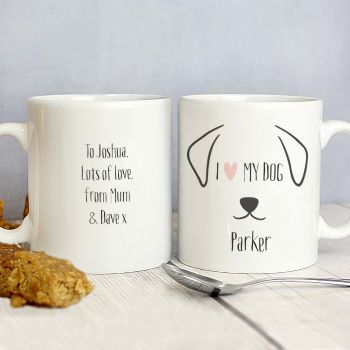 Personalised Dog Gifts: Features Mug